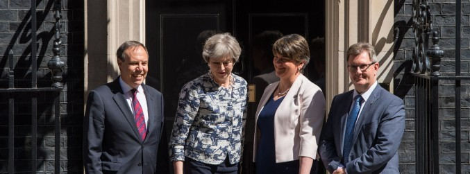 DUP, Conservatives agree deal to form minority UK government