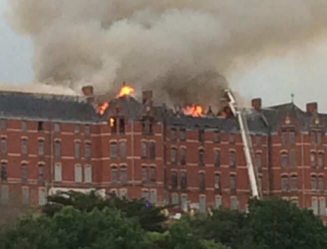 Historic former Our Lady's Hospital in Cork city gutted by fire