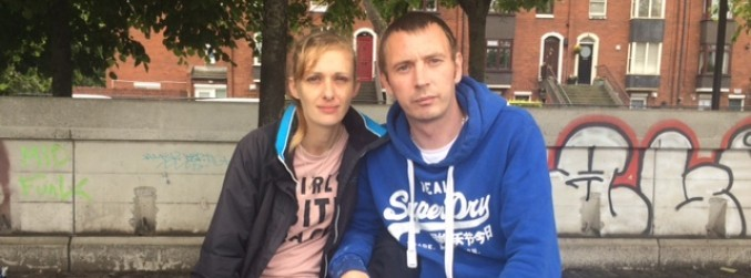 Homeless couple say Dublin hubs are no place for families