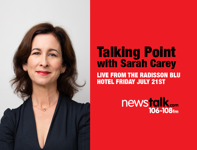 Talking Point with Sarah Carey is headed to the Galway International Arts Festival 2017