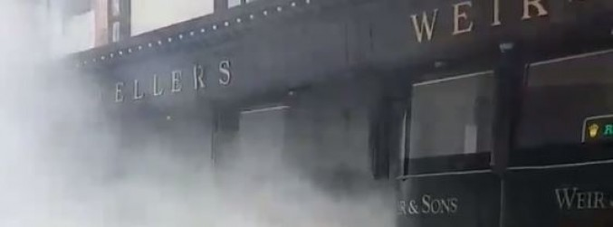 WATCH: Smoke engulfs Weir's jewellers in Dublin
