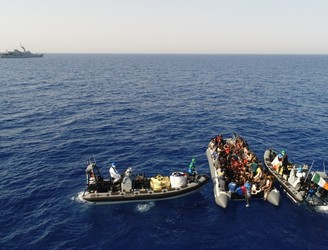 Irish Navy rescues 149 people in the Mediterranean