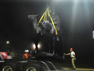 Confederate monuments removed overnight in US city of Baltimore