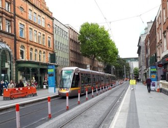WATCH: Luas tested on new line ahead of permanent traffic restrictions