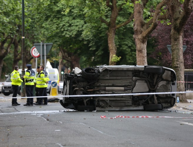 Several people hospitalised after crash in Dublin city