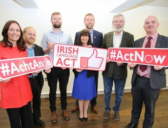 Adams - no end to Northern deadlock without Irish language rights