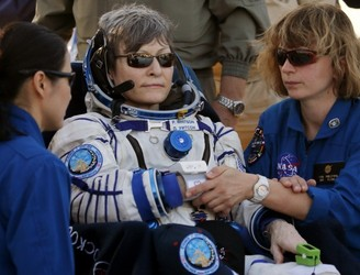 Record-breaking US astronaut Peggy Whitson arrives back on Earth