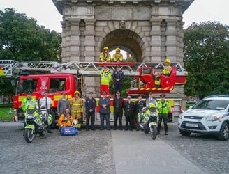 Emergency services crews to march through Dublin today