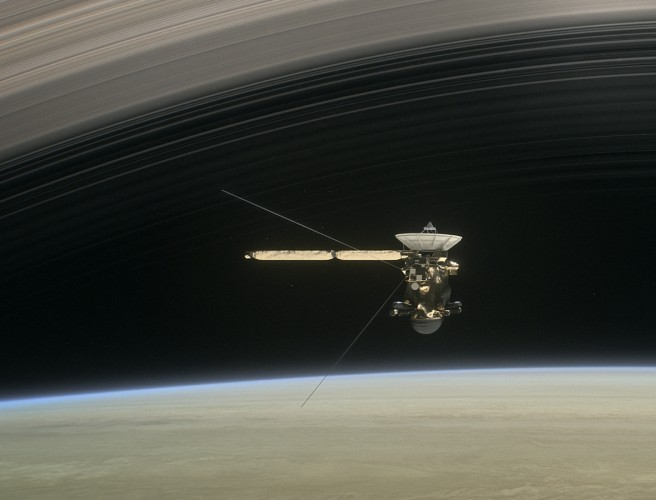 This was Cassini's last image before burning up in Saturn's atmosphere