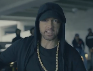 "Eminem launches tirade against ""racist grandpa"" Trump"