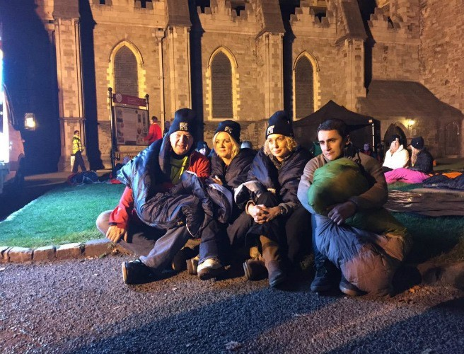 Bobby Kerr is spending the night outside for the 'Shine A Light' campaign