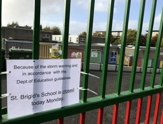 All schools to re-open on Wednesday after Storm Ophelia