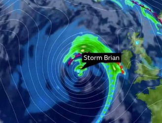 Several weather warnings in place as Storm Brian approaches