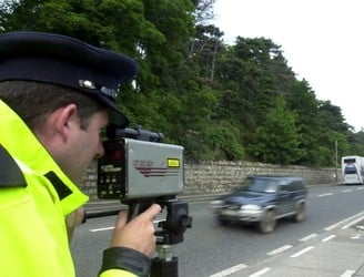 Gardaí caught 225 motorists driving over the speed limit yesterday