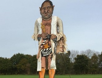Massive effigy of Harvey Weinstein to be burned in the UK