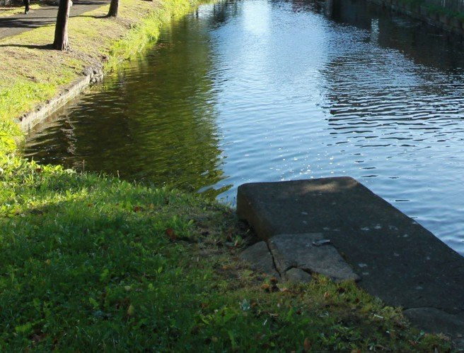 Dublin canal bridge flooded to discourage homeless people from using it