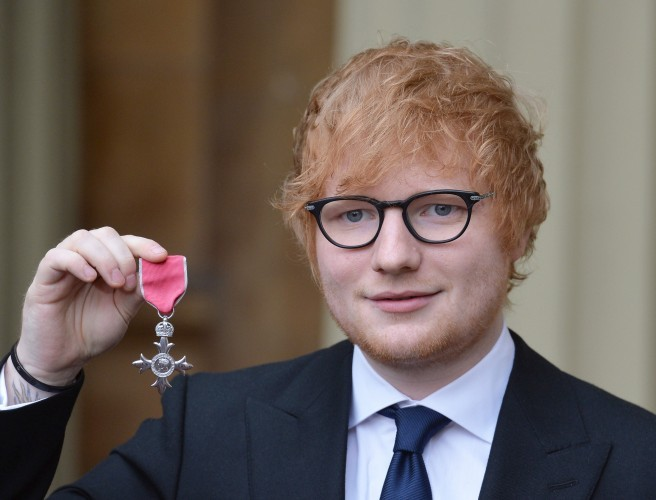 Ed Sheeran Accepts Grammys With Cat Photo