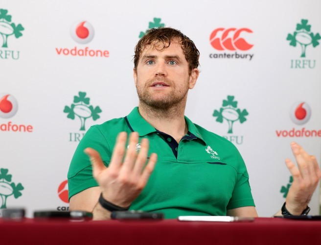 James Heaslip bats away questions about his injury