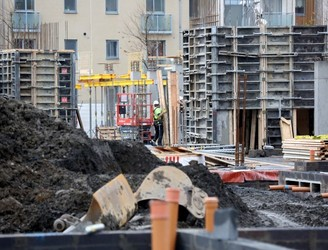 Activity in construction sector grew by more than 50% this year