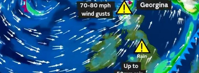 Weather warnings cancelled as Storm Georgina passes Ireland
