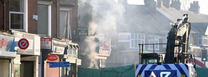 Three men arrested over fatal explosion in Leicester