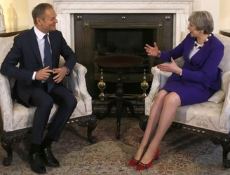 Donald Tusk 'not happy' with Theresa May's 'red line' on Brexit