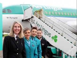 All-female Aer Lingus crews for International Women's Day