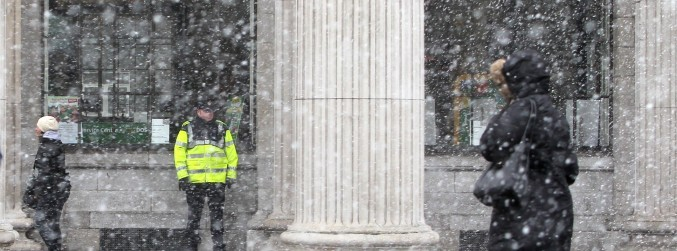 Forecasters say snow showers likely over St Patrick's weekend