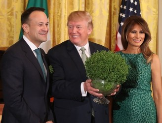 Taoiseach presents traditional bowl of shamrock to US President