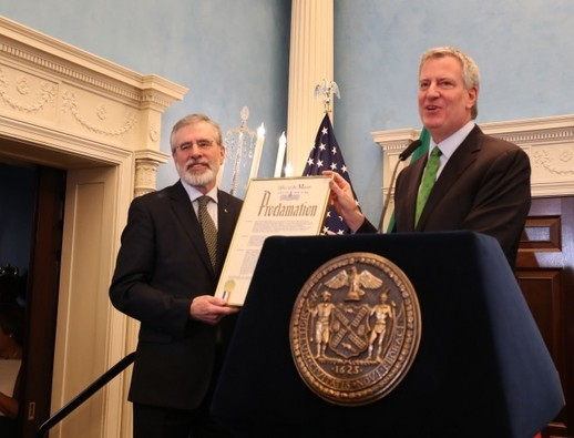 Labour leader says proclamation of 'Gerry Adams Day' in New York is 'unfortunate and inappropriate'