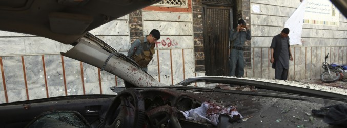 Suicide bomber kills 48 in blast at Kabul voter registration centre