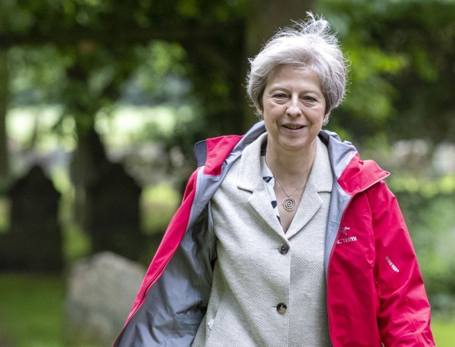 "May insists borders on island of Ireland or in Irish Sea ""not acceptable"""