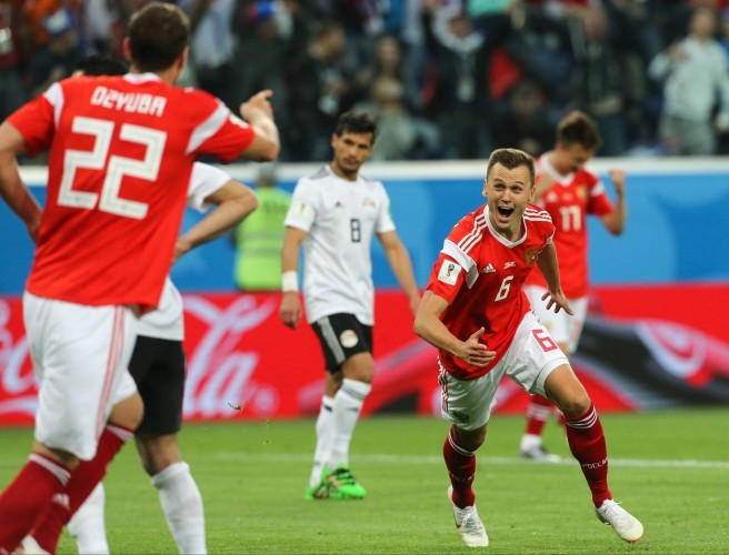 Denis Cheryshev of the Russia national football team. Image:  NurPhoto/SIPA USA/PA Images