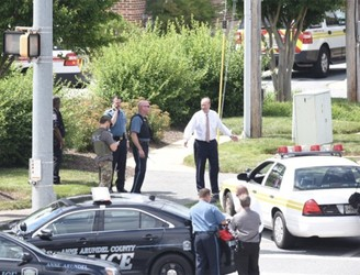 Five dead in shooting at US newspaper offices