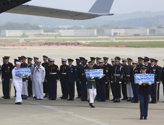 North Korea returns remains of US soldiers killed in Korean War