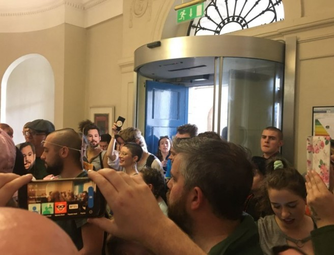 Protesters leave Department of Housing in Dublin city after brief occupation