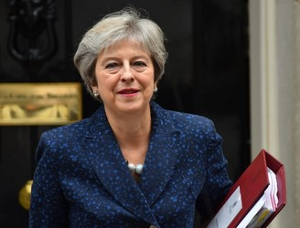 "May says Chequers plan is only way to avoid hard border without ""carving up the UK"""