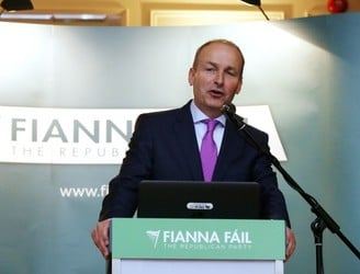 Latest opinion poll shows gap between Fine Gael and Fianna Fáil narrowing
