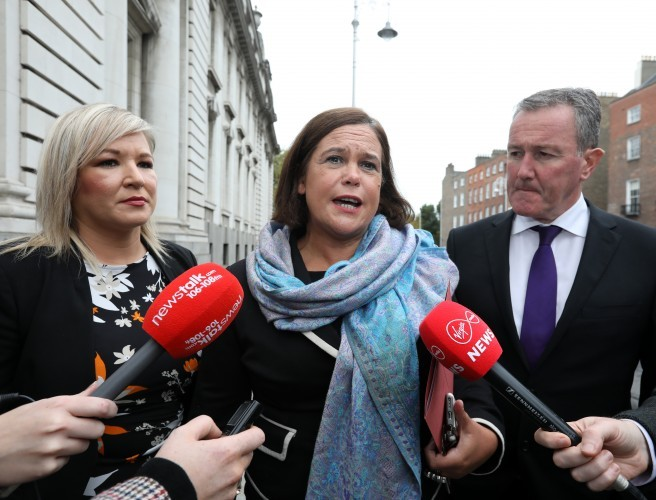 Sinn Féin in London for talks after negotiations on the Irish border break down