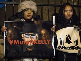 R Kelly and record label 'part ways' amid protests against singer