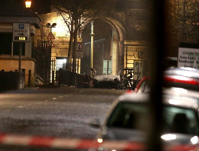 Two men arrested in connection with Derry car bomb attack