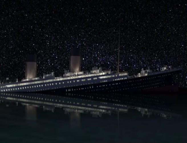 WATCH: Computer-generated Titanic sinking in real-time