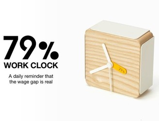 This alarm clock tells women what time they should leave work based on the gender pay gap