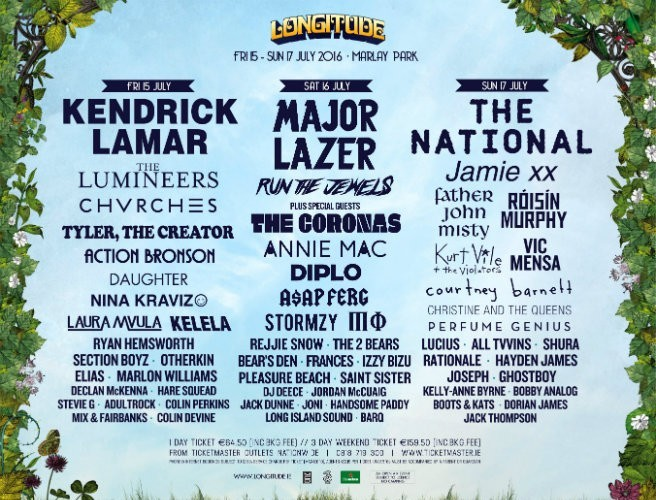 Longitude 2016 day-by-day line-up announced