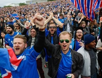 WATCH: Iceland fans celebrate as they record famous victory over England