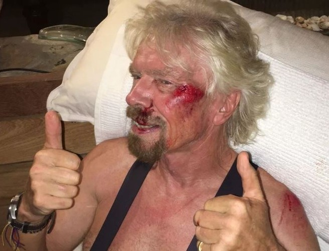 Richard Branson credits helmet for saving his life after bike crash