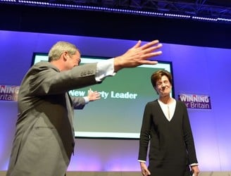 UKIP elects its first female leader as Nigel Farage bows out