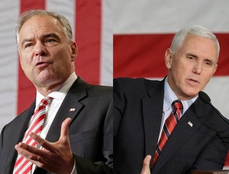 Tim Kaine and Mike Pence prepare to face off in first VP debate