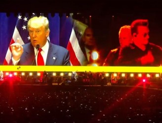 'You're fired': Bono mocks Donald Trump during San Francisco show