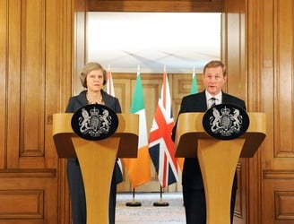 Enda Kenny and Theresa May in Brussels for talks as Brexit looms